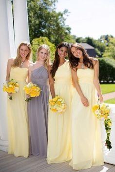 Vestido das madrinhas: Inspirações para um casamento em amarelo