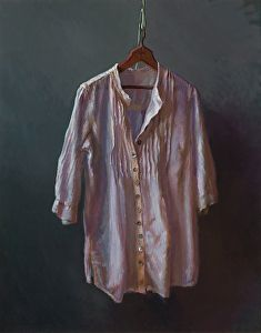 Barcelona - White Shirt by Lea Wight Oil ~ 30 x 24