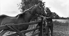 Robert Plant shot on his farm in Kidderminster,  England, where he sought solace from the band's hectic touring life.