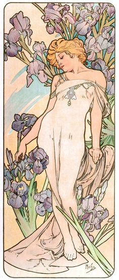 alphonse mucha iris