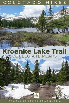 Kroenke Lake Trail is an exceptional hike to an alpine lake. Beautiful from start to finish, hike through lush forests, see incredible views of Colorado's Collegiate Peaks, and nestled in the basin just below tree line,Kroenke Lake. Snowshoe, Rafting, Snowboard, Colorado Hiking, Colorado Lakes, Adventures Abroad, Paradise Travel, Alpine Lake, Amazing Destinations