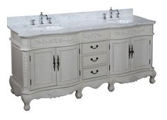 Bathroom, : Exciting Furniture For Bathroom Decoration Using White Wood French Country Bathroom Vanity Including White Marble Vanity Tops And Oval White Undermount Bathroom Sink 72 Inch Bathroom Vanity, Country Bathroom Vanities, French Bathroom, Victorian Bathroom, Wooden Bathroom, Rustic Bathrooms, Bathroom Ideas, Bathrooms Decor, Nautical Bathrooms