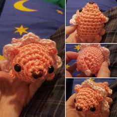 Amigurumi Steven Universe Lion / Crochet Pink Lion / Cute Lion Plush - Mini Fat Lion Fan Art Plushie - Made to Order