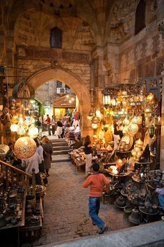 Khan el Khalili market in Cairo, Egypt by shawna