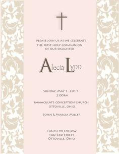 Girl Rose First Communion Invitation by InvitedInc on Etsy, $17.99