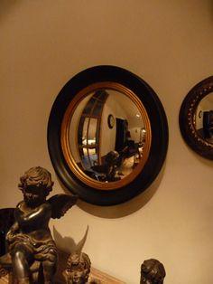 Miroir oeil de sorci re rond convexe en m tal athezza for Miroir bombe rond