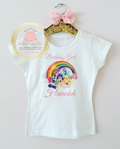 A personal favorite from my Etsy shop https://www.etsy.com/ca/listing/256047020/my-little-pony-birthday-shirt-my-little