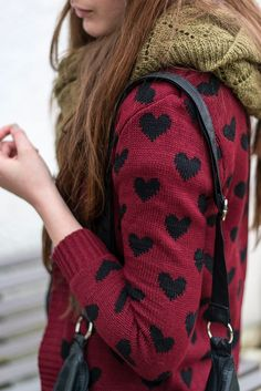 Dear stylist, I like the colors of this sweater, but I am not into hearts. If they were polka dots it would be awesome.