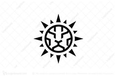 Logo for sale: Lion Sun Logo by krustovin, uploaded on base form simple sunlight symbol blend with lion line,Eye-catching, memorable for any company logo Leo Tattoos, Body Art Tattoos, Small Tattoos, Sun Tattoo Designs, Dragon Tattoo Designs, Lion Drawing Simple, Logo Lion, Leader Logo, Tribal Logo