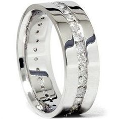 8mm 150ct men diamond wedding ring comfort fit polished shiny wedding ring band via