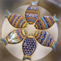 Deruta Ceramics. Made in Italy. Handmade and hand painted Fish.