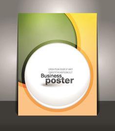 Creative Business poster design vector 02