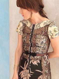 Embroidered Brocade Dress