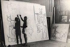 """""""Picasso 1947 #inthestudio"""""""