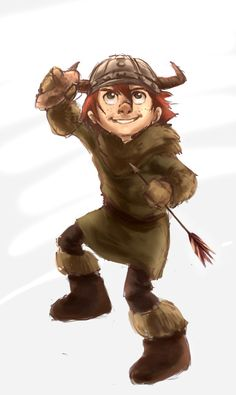 Epic Potato by ~avatarmirai on deviantART. Book Version of Hiccup from the book How to Cheat a Dragon's Curse.