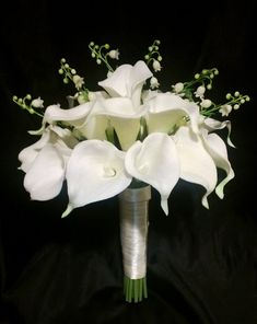 Real touch Calla lily bouquet Lily of the by SilkFlowersByJean, $90.00