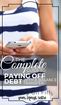 Fighting fire with fire: is that what it takes to pay off credit card debt? Here's how to pay off debt with a balance transfer - Living on Fifty http://www.retiredby40blog.com/2016/04/25/how-to-pay-off-debt-with-a-balance-transfer/