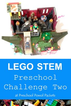 LEGO Engineering Preschool Challenge 2 (STEM): Houses | Preschool Powol Packets Early Learning Activities, Lego Activities, Stem Learning, Kindergarten Activities, Lego Engineering, Lego Club, Lego Storage, Stem Projects