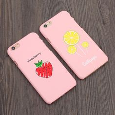 Find More Phone Bags & Cases Information about Cute 3d Strawberry lemon Pink phone case For Apple Iphone 6 6s Plus Case Luxury Protective Hard Plastic Scrub Back Cover,High Quality phone necklace case,China case for nexus phone Suppliers, Cheap phone case cute from javq Phone Cases Store on Aliexpress.com