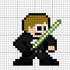 Luke Skywalker Perler Bead Pattern