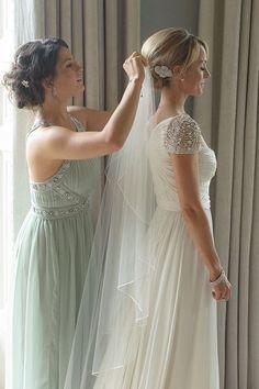 Pastel bridesmaid dress