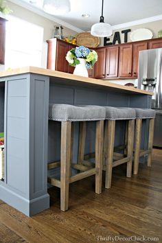 DIY Kitchen Island Makeover | Kitchen island makeover, Diy kitchen ...