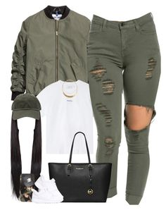 Olive Green ♡ by thatchickcrazy on Polyvore featuring polyvore fashion style Marques'Almeida NIKE MICHAEL Michael Kors Forever 21 ASOS