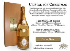 Cristal for Christmas - 1990 & 2002 - 6 Litre Methuselahs of Vintage Champagne - The Antique Wine Company (AWC)