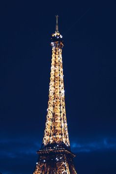 Travel to Paris in the Winter | Eiffel Tower at Night