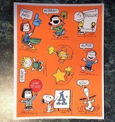 SALE NEW Peanuts Snoopy Woodstock Charlie Brown Christmas 68 Acid Free Stickers
