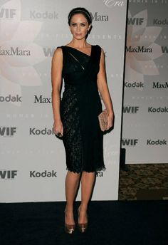 Emily Blunt in Elie Saab (Photo by Jason Merritt/Getty Images)