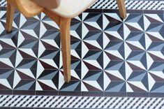 Beija carpet tapis en vinyle Beija Flor donc, mais imitation carreaux de ciment anciens