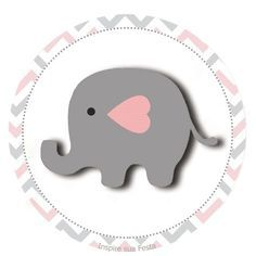 Elefantinho Chevron cinza e rosa: Kit festa grátis para imprimir – Inspire sua Festa ®  http://inspiresuafesta.com/elefantinho-chevron-cinza-e-rosa-kit-festa-gratis-para-imprimir/