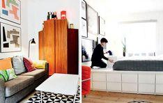 Skab praktisk plads - Boligliv - ALT.dk Floor Chair, Plads, Ikea, Divider, Flooring, Odense, Bedroom, Furniture, Home Decor