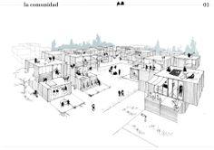 Modular building competition ryterna place) - la comunidad, spain 建 築 Module Architecture, Social Housing Architecture, Architecture Design, Parametric Architecture, Architecture Concept Drawings, Architecture Portfolio, Architect Sketchbook, Masterplan, Urban Design Diagram