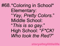 Sorry about the language, guys! But speaking of being in high school and running out of red.World History class. Each student colouring in a map. Of century empires. We literally did run out of red! Stupid People, Smart People, Happiness Meaning, Haha So True, Serious Business, History Class, Laugh Out Loud, The Funny, True Stories