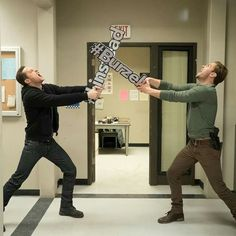 Chicago P.D. | Jesse Lee Soffer (Halstead) and Patrick John Flueger (Ruzek) fighting over who has the better relationship: Linstead or Burzek - LOL!