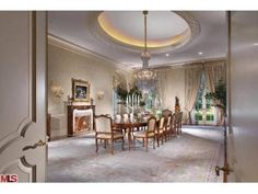 candy spelling house dining room