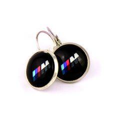 Novelty BMW logo  earrings. BMW fan logo M earrings. Bmw M5. Personalised  jewelry  gift. BMW lovers gift. 2017. by Mysstic on Etsy