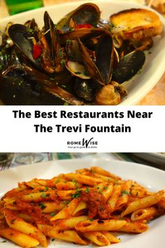 You would think restaurants near Trevi Fountain would be mostly touristy and over-priced. But you are wrong! Check out our ultimate guide on the best restaurants near The Trevi Fountain in Rome,Italy. Rome Travel, Italy Travel, Trevi Fountain Rome, Rome Attractions, Spanish Dishes, Best Places To Eat, Rome Italy, International Recipes, The Good Place