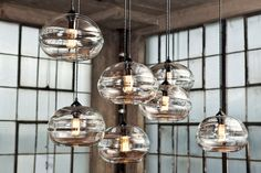 Get this hand-blown crystal glass pendant light fixture, for that hip and updated dining area