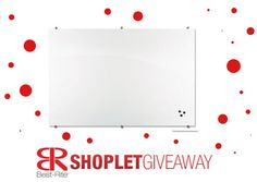 Shoplet.com is giving away a Best Rite magentic glass board! Here's how to win: Follow Shoplet on Pinterest, repin this post, go to the Shoplet Blog before 4/28/13 and tell us where you would use your board. #giveaways