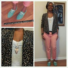 Florals Mint and Pinkish