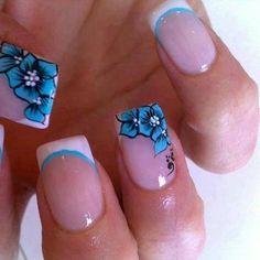 Modern Nails With Beautiful Design - Click image to find more nail art posts Beautiful Nail Designs, Cute Nail Designs, Beautiful Nail Art, Paint Designs, Fabulous Nails, Gorgeous Nails, Pretty Nails, Fancy Nails, Diy Nails