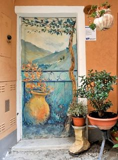 Valloria, a village with painted doors, province of Imperia , Liguria