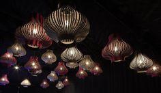 design pendant lamp (felt, acoustical) BUZZILIGHT by Sas Adriaenssens Buzzispace
