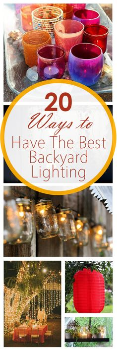 It's always nice to have friends over and entertain in the backyard, especially when the weather is nice. However, when the sun goes down, it becomes difficult to keep the party going if there isn't good lighting. Instead of sending everyone home, try some of these awesome backyard lighting ideas that you're sure to love!