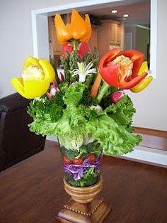 Vegetable centerpiece I did as homework!