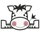 Summer Sale 65% Off Zoo Baby Zebra Applique Machine Embroidery Designs 4x4 & 5x7 Instant Download Sale