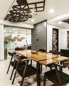 New kitchen furniture small dining rooms ideas Dining Room Design, Ceiling Design Living Room, Interior, Kitchen Design, Living Room Design Modern, Dining Room Small, Dining Area Design, Dining Design, Small Dining